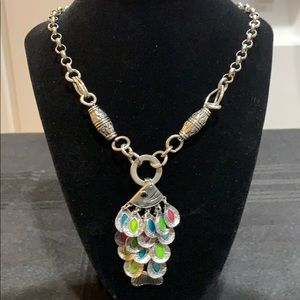 NWT Silver toned necklace/fish pendant